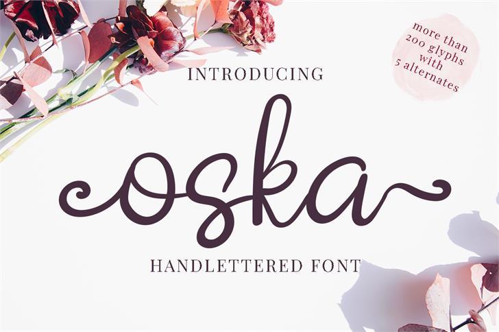 Oska- Demo Font design text