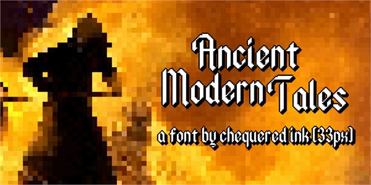 Ancient Modern Tales Font screenshot poster