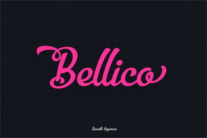 Bellico Font design typography