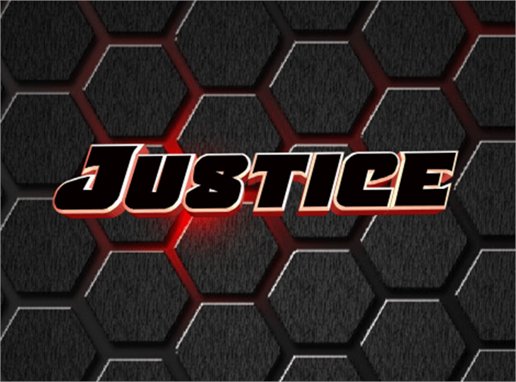 Justice font by Iconian Fonts