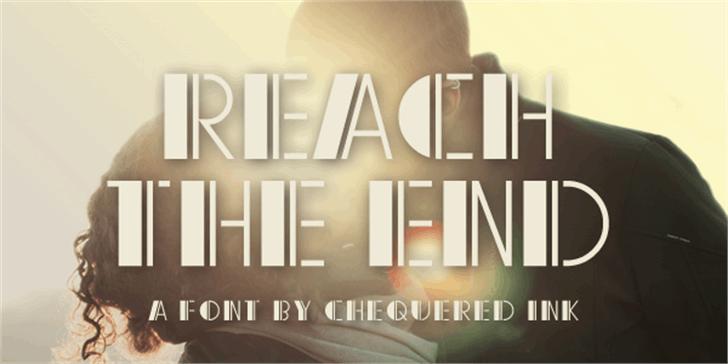Reach the End Font screenshot design