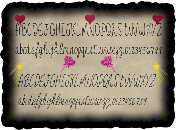 JessFont handwriting text