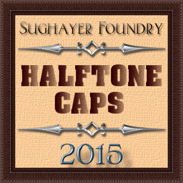 Halftone CAPS font by Sughayer Foundry