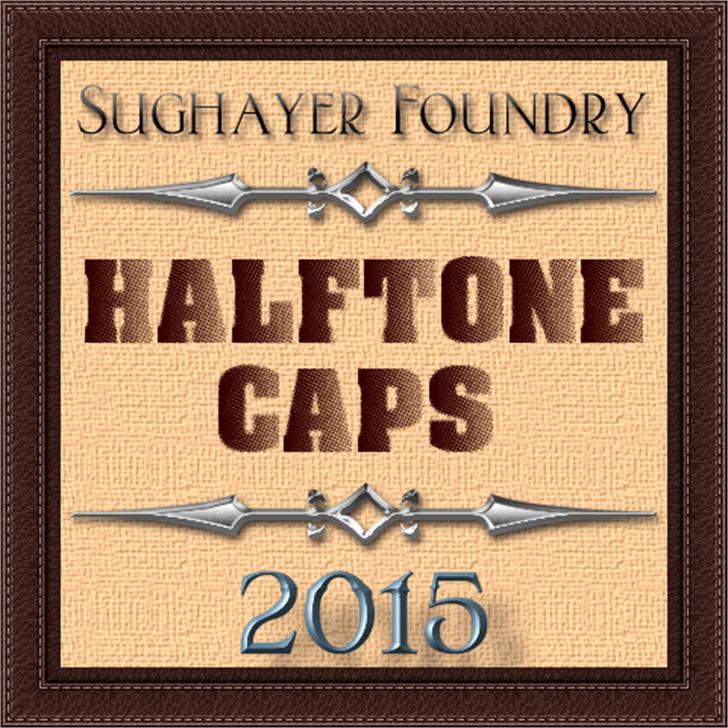 Halftone CAPS Font text typography