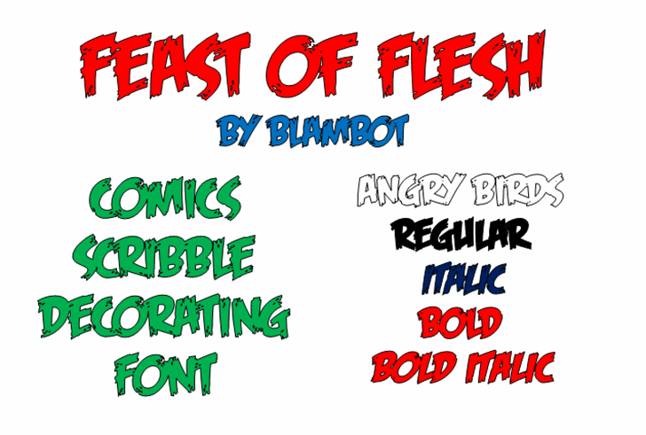 Feast of Flesh BB Font text handwriting