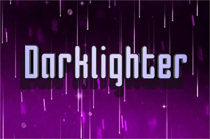 Darklighter Font magenta violet