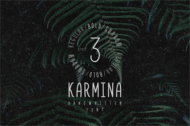 Karmina Bold Font design screenshot