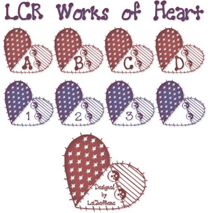LCR Works of Heart Font nintendo