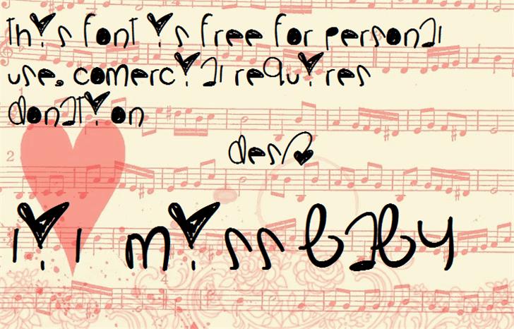 LilMissBaby Font handwriting design