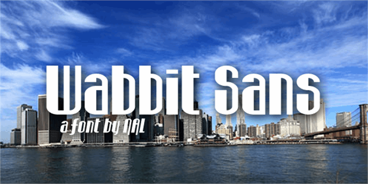 Wabbit Sans font by Chequered Ink