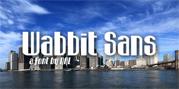 Wabbit Sans Font sky outdoor