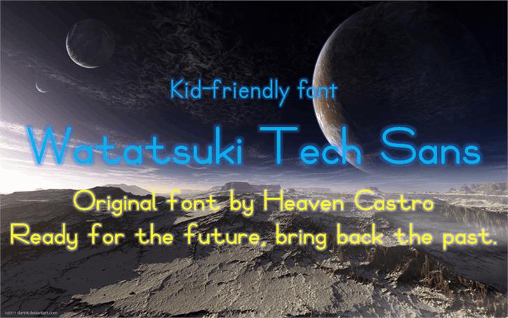 Watatsuki Tech Sans Font poster