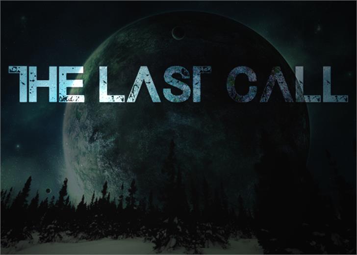 The Last Call Font screenshot outdoor