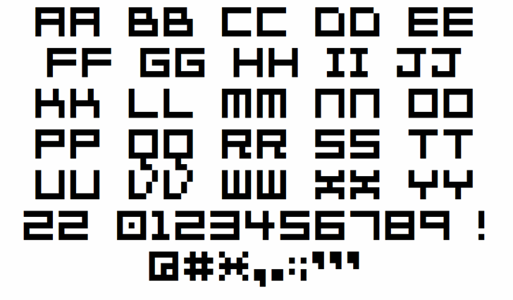 7px2bus font by 010Bus