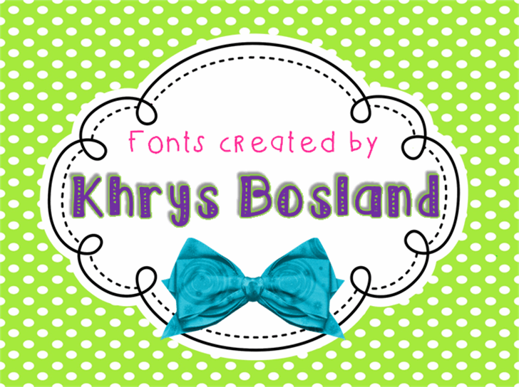 KBRibbonsAndBows font by KhrysKreations