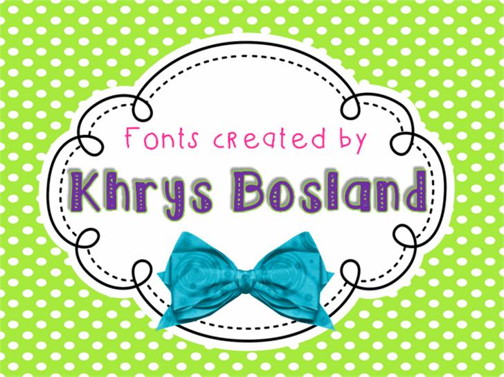 KBRibbonsAndBows Font cartoon vector graphics