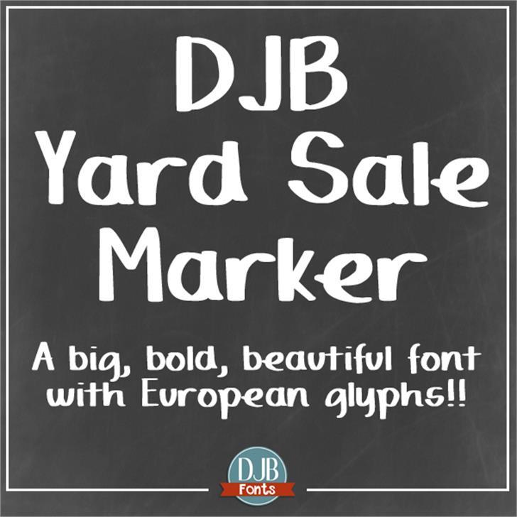 DJB Yard Sale Marker Font text screenshot
