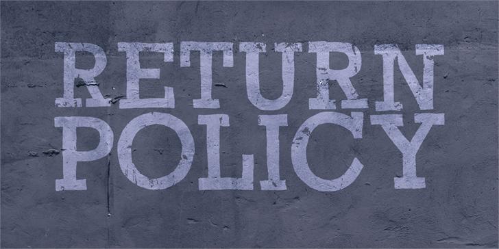 Return Policy DEMO Font handwriting sign