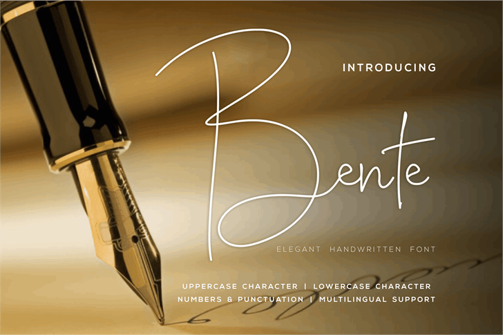 Bente Lite Font poster