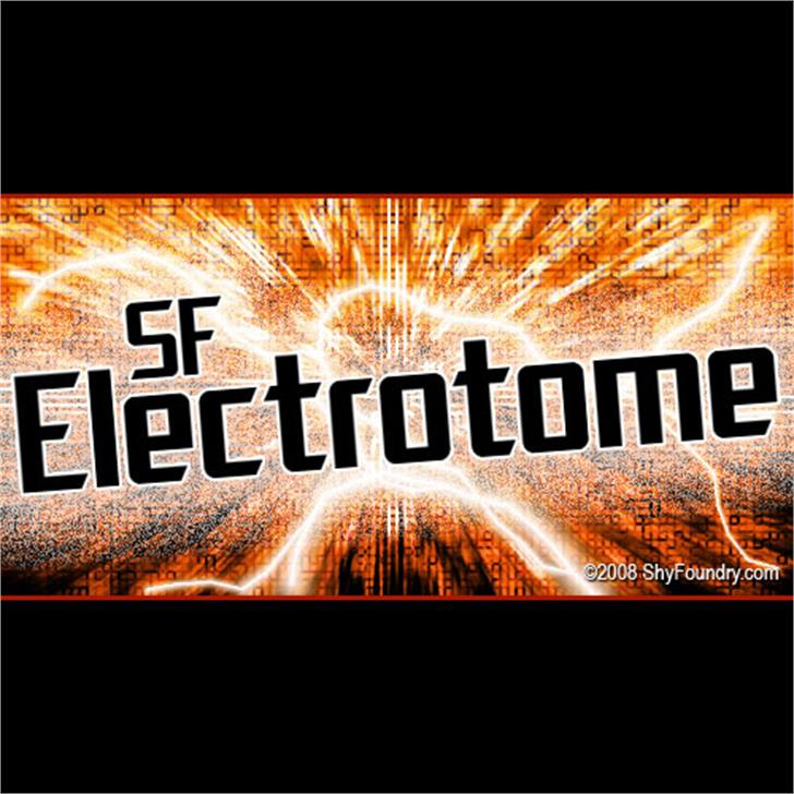 SF Electrotome Font fireworks poster
