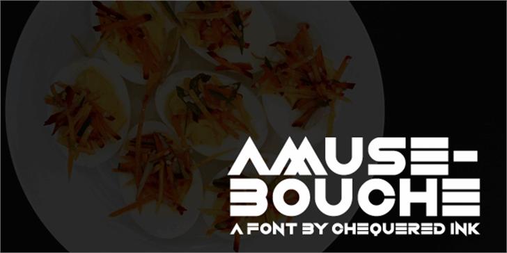 Amuse-Bouche Font screenshot