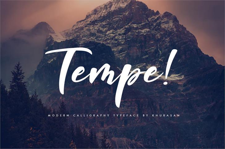 Tempe! Font mountain text