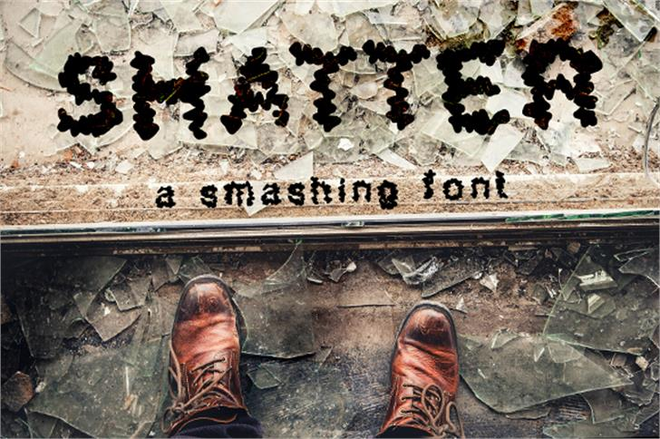 Shatter_demo font by GraphicsBam