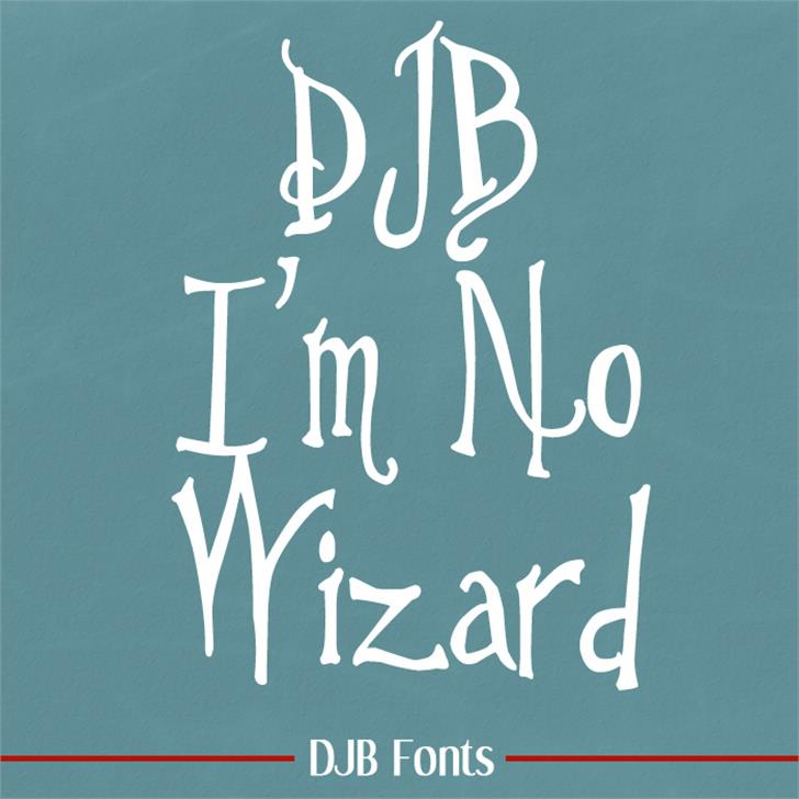 DJB Im No Wizard Font handwriting blackboard