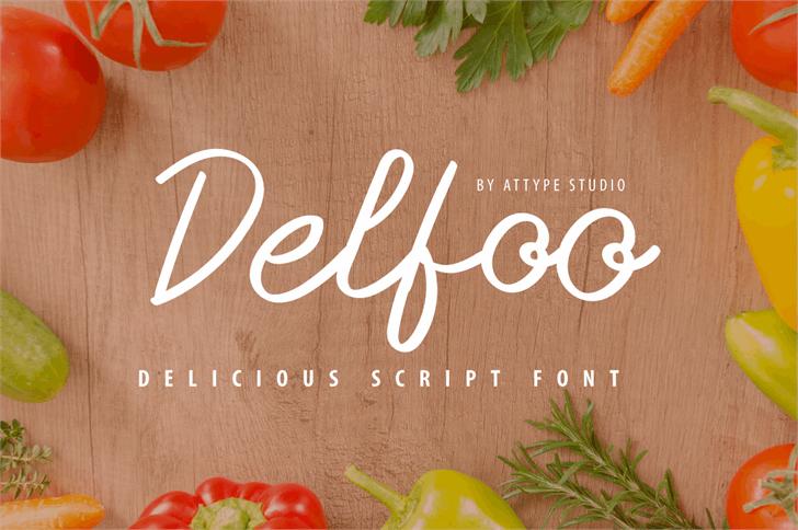 Delfoo Font food carrot