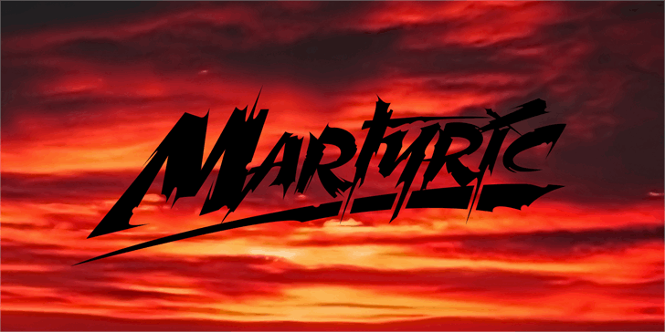 Martyric Personal Use Only Font outdoor sky