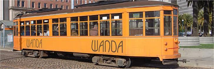 Wanda Font transport yellow