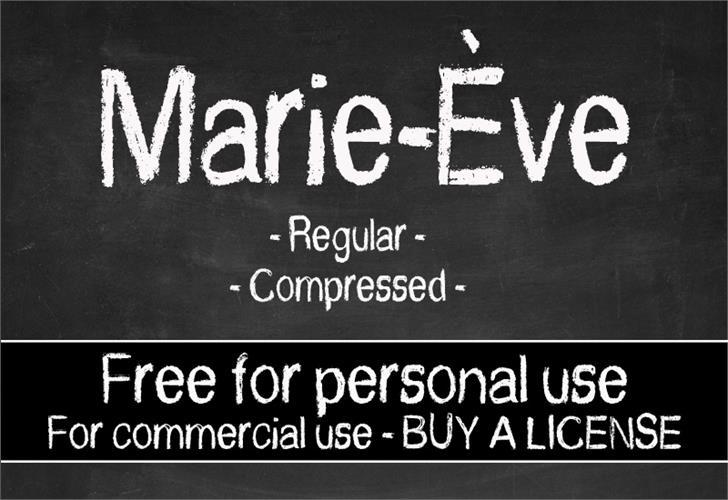 CF Marie Eve Font text handwriting