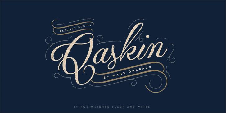 Qaskin Black Personal Use font by Måns Grebäck