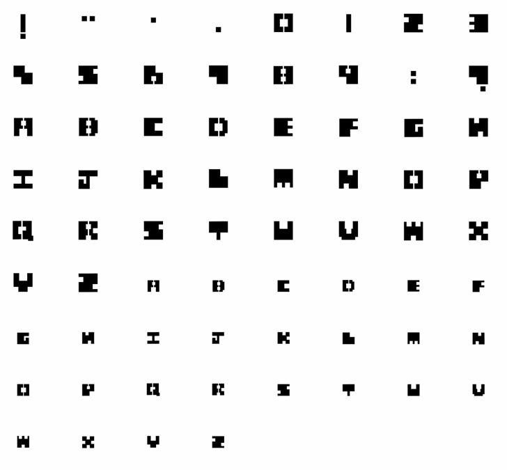Chunk Font pattern screenshot