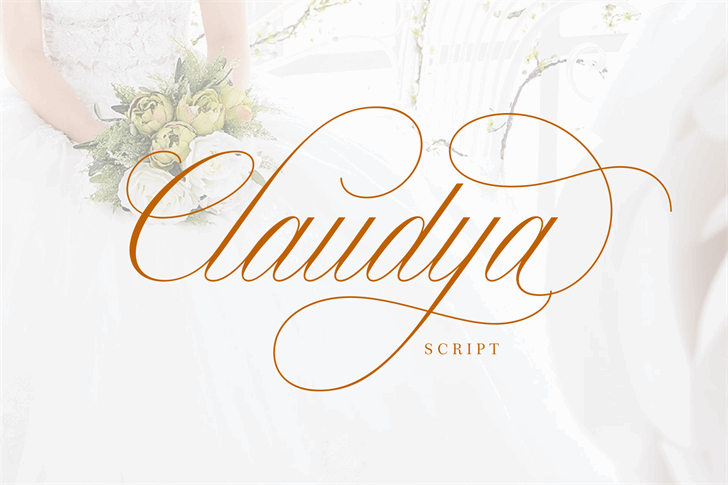 Claudya Script Demo Font design typography