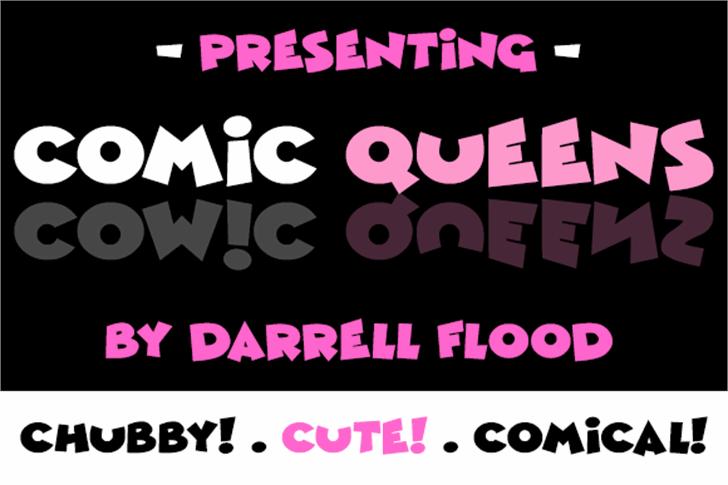 Comic Queens Font poster screenshot