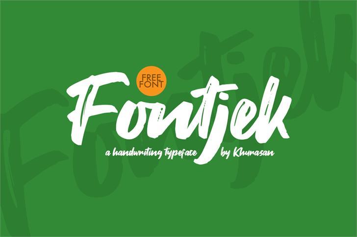 Fontjek Font design graphic