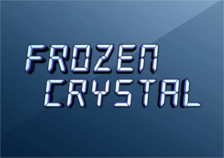 Frozen Crystal Font design screenshot