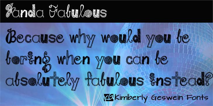 Janda Fabulous font by Kimberly Geswein
