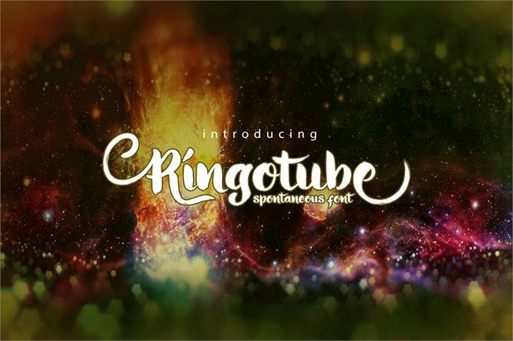 Ringotube Font screenshot fireworks