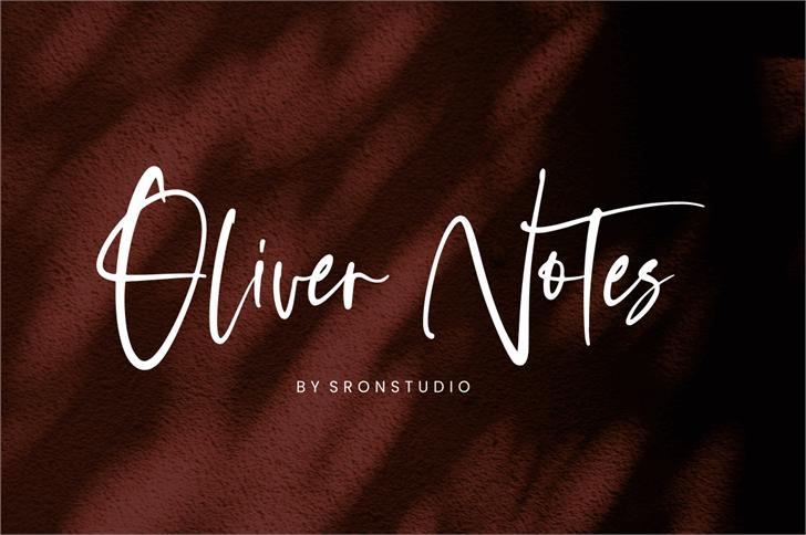 Oliver Notes Font handwriting design