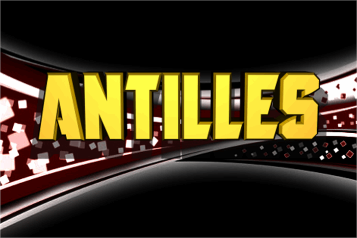 Antilles Font screenshot graphic