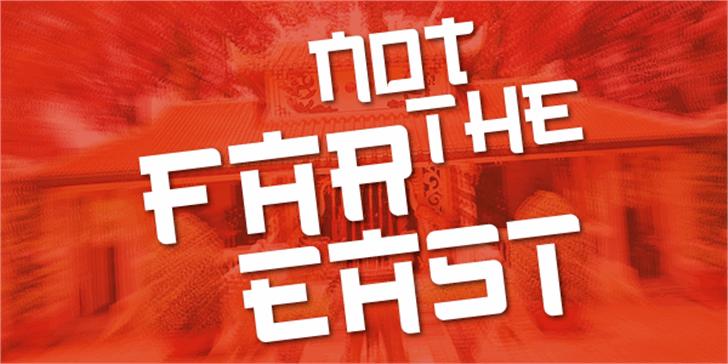 Not the far east Font poster design