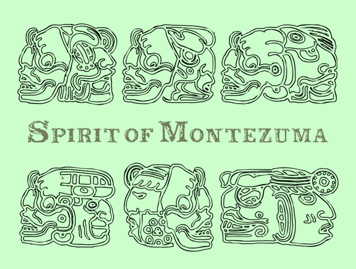 Spirit of Montezuma Font drawing sketch
