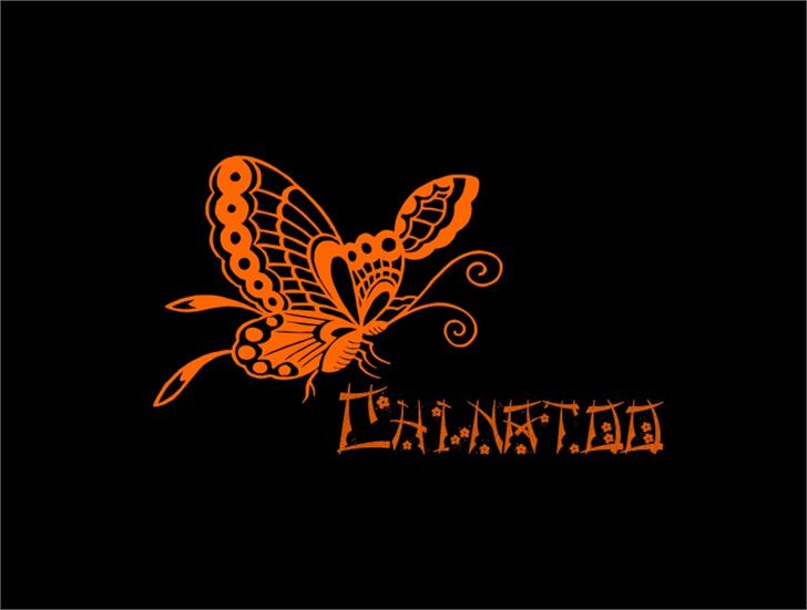 Chinatoo Font butterfly moths and butterflies