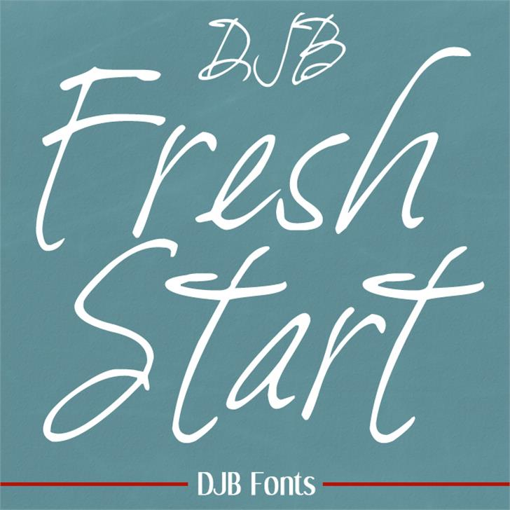 DJB Fresh Start Font blackboard handwriting