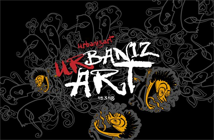 VTKS Urbanizart Font drawing design