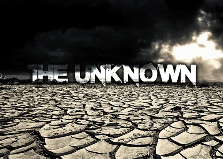 The Unknown Font ground outdoor