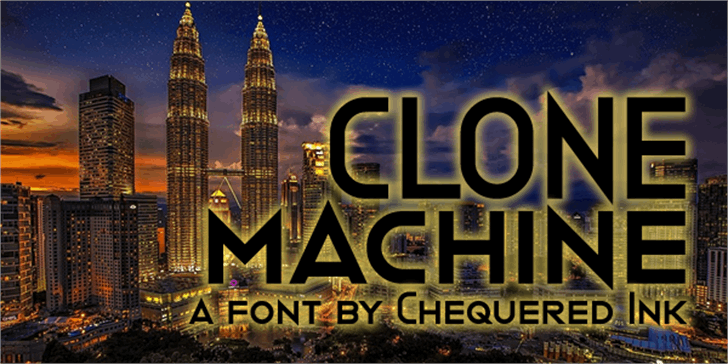 Clone Machine font by Chequered Ink