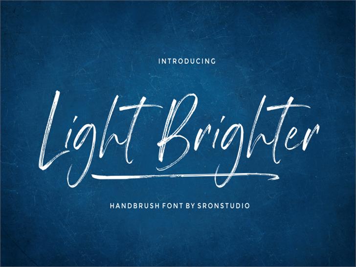 Light Brighter Font poster